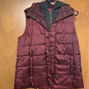Wine colored vest